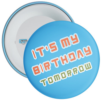 Blue It's My Birthday Badge 1