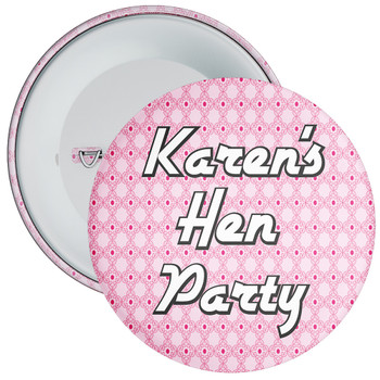 Customisable Hen Night Badge