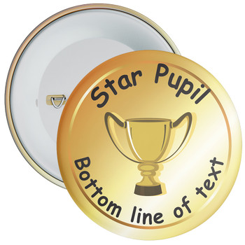 School Customisable Star Pupil Badge 8