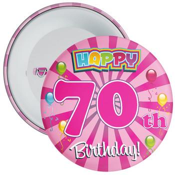 70th Birthday Badge