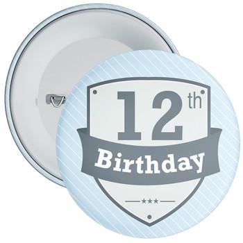 Vintage Retro 12th Birthday Badge