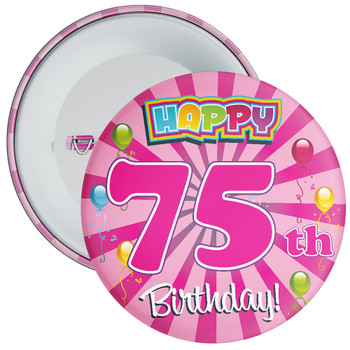 75th Birthday Badge