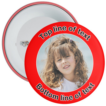 Red Bordered Photo Badge