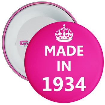 Pink Made in 1934 Birthday Badge
