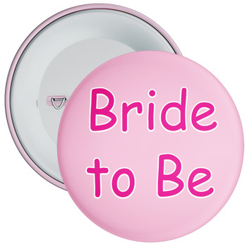 Pink Bride to Be Hen Party Badge 2