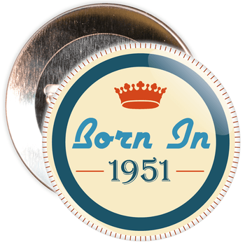 Born in 1951 Birthday Badge