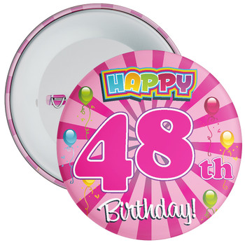 48th Birthday Badge