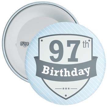 Vintage Retro 97th Birthday Badge