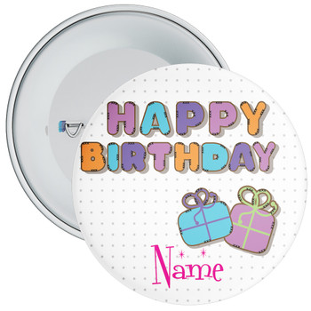 Customisable Birthday Badge 3