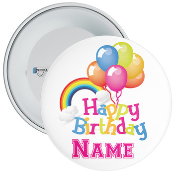 Customisable Birthday Badge 8