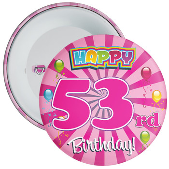 53rd Birthday Badge