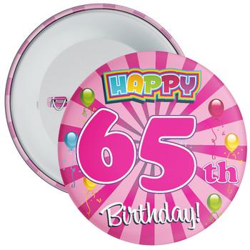 65th Birthday Badge