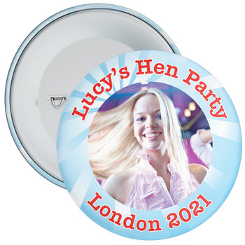 Customisable Blue Rays Hen Party Photo Badge
