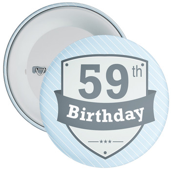 Vintage Retro 59th Birthday Badge