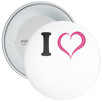 White Custom I Love Badge 3