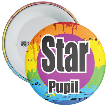 School Colourful Star Pupil Badge 2
