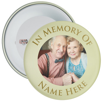 In Memory Of Photo Badge (green)