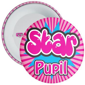 School Pink Star Pupil Badge