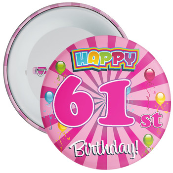 61st Birthday Badge