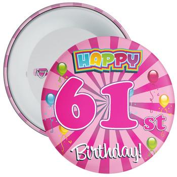 61st Birthday Badge