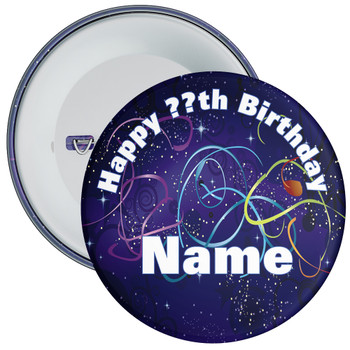 Customisable Birthday Badge 16