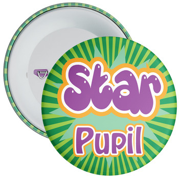 School Green Star Pupil Badge