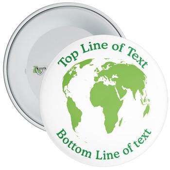 School Customisable Eco Globe Badge