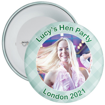 Scottish Style Tartan Hen Party Badge with Photo 12