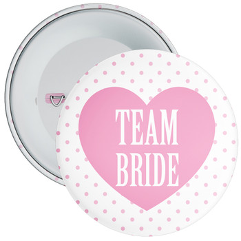 Pink Classy Team Bride Hen Party Badge 1