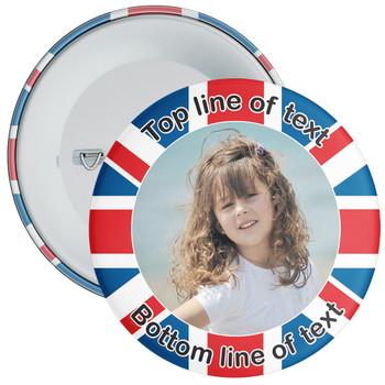 UK Themed Photo Badge