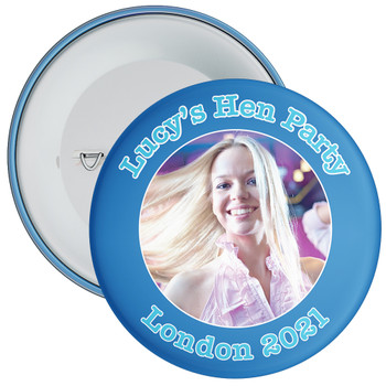 Customisable Blue Hen Night Photo Badge 1