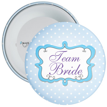 Blue Team Bride Hen Party Badge