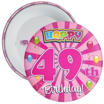 49th Birthday Badge