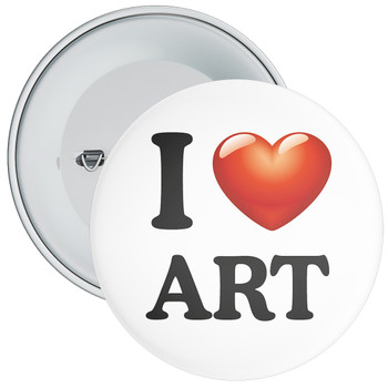 School I Love Art Badge