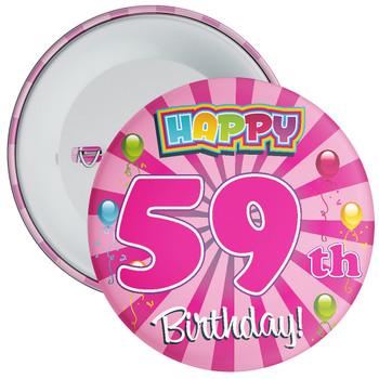 59th Birthday Badge