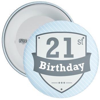 Vintage Retro 21st Birthday Badge