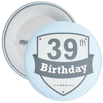 Vintage Retro 39th Birthday Badge
