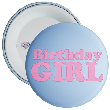 Blue Birthday Girl Badge