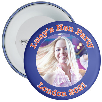 Customisable Blue Hen Night Photo Badge 2