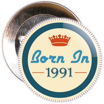 Born in 1991 Birthday Badge