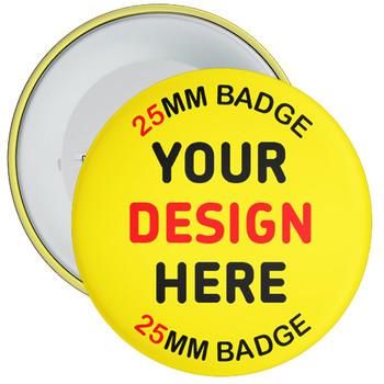 Custom Age Unicorn Rainbow Birthday Badge Pin Badge 59mm or 75mm Sizes