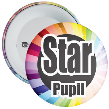 School Colourful Star Pupil Badge