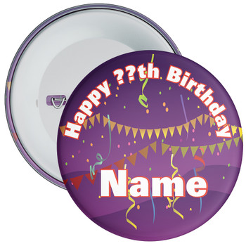 Customisable Birthday Badge 14