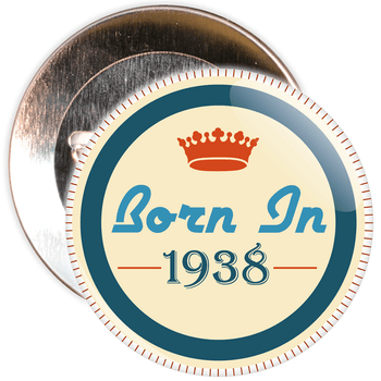 Born in 1938 Birthday Badge