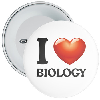 School I Love Biology Badge