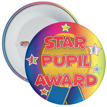 School Multi Coloured Star Pupil Award Reward Badge 2