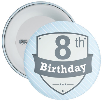 Vintage Retro 8th Birthday Badge