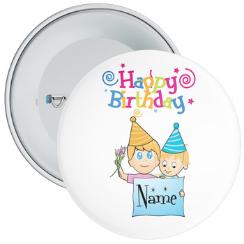Customisable Birthday Badge 4