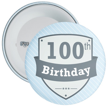 Vintage Retro 100th Birthday Badge