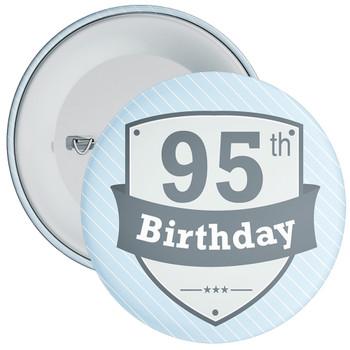 Vintage Retro 95th Birthday Badge